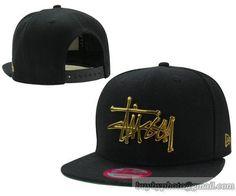 Men s Stussy X New Era Gold Metal Stussy Script Logo Snapback Hat - Black 8d22722c50e7