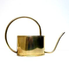 Brass Watering Can English Vintage Decorative Brass by CostaSul