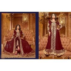 Thankar New Attractive Sangeeta Ghosh Maroon Anarkali Suit