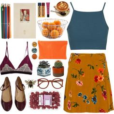 A fashion look from October 2015 featuring Topshop tops, Kenzo skirts and Repetto flats. Browse and shop related looks.