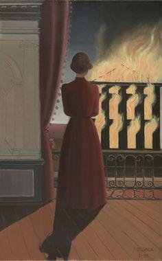 Paul Delvaux, L'Incendie, 1935.