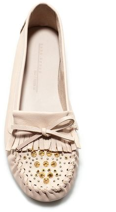 Zara Soft Studded Moccasin in Beige (I obviously need these)