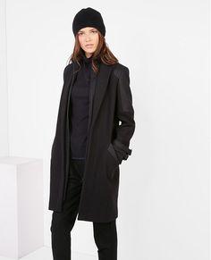 Manteau noir femme comptoir des cotonniers