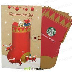 SA031 Starbucks Christmas Stocking Envelope