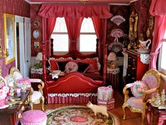 victorian bedrooms photos | Victorian Dollhouse Bedroom and Bathroom, 1:12 Scale Miniatures, Pt. 4