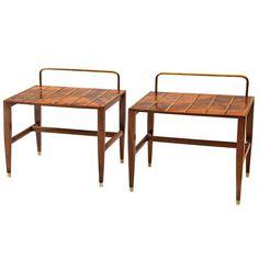 Very Rare Gio Ponti Walnut Root Veneered Side Table from Hotel Royal, 1955 | 1stdibs.com