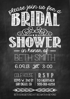Bridal shower invite #picadillyprints