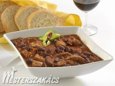Madridi marhapacal recept Chili, Food And Drink, Soup, Beef, Meals, Dishes, Cooking, Recipes, Cook Books