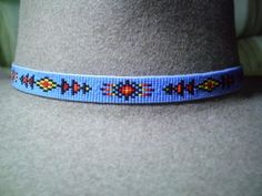 Native American Inspired Beaded Hat Band~Geometric Sun Design Hatband | ajwhatbands - Accessories on ArtFire