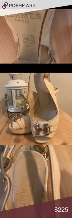 Hermas High Heels by Hermes. Leather Hermes Shoes Sandals