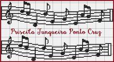 grafico ponto cruz notas musicais - Pesquisa Google                                                                                                                                                                                 Mais