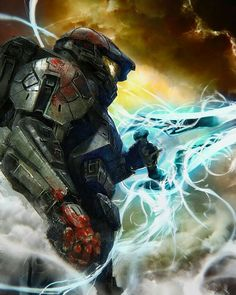 Halo - Master Chief ready for the next wave Halo Master Chief Helmet, Master Chief Armor, Master Chief Costume, Master Chief And Cortana, Halo Game, Halo 5, Halo Reach, The Legend Of Zelda, Star Citizen