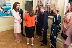 Duchess Catherine visits the 'Vogue 100' exhibition