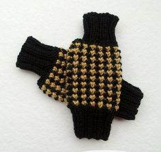 FREE SHIPPINGKnit Fingerless Gloves in Black & by Need4KnitShop