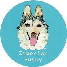 マイ @Behance プロジェクトを見る : 「026   Siberian Husky 2」 https://www.behance.net/gallery/42193667/026-Siberian-Husky-2