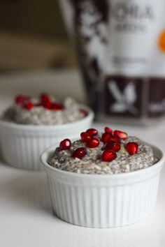 Coconut Chia Pudding with Pomegranate Seeds - Homemade Levity
