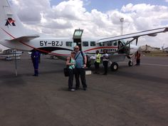 Our little plane flying us to Kilimanjaro