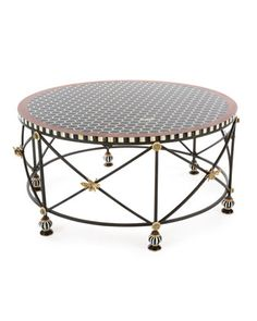 Honeycomb+Round+Coffee+Table+by+MacKenzie-Childs+at+Neiman+Marcus.
