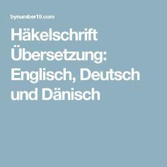 Häkelschrift Übersetzung: Englisch, Deutsch und Dänisch