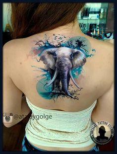 Drawings with the pen on the body Elephant Artist: atalay Gölge Atalay collector: Leyla Elif Erdur