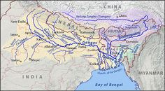 UPSC IAS General Studies Course of Ganga (Ganges) River from Gangotri to Bay of Bengal. Gangotri is called the origin of the River Ganga and seat of the goddess Ganga. Geography Map, Physical Geography, Geography Activities, Rishikesh, Indian River Map, The Darjeeling, Brahmaputra River, Ancient Indian History, System Map