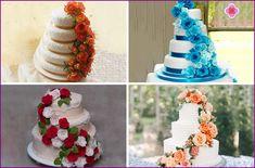 Svatební dort s růžemi červenými a bílými: fotografiích dekorací tmelu