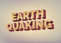 GraphicBurger » Earth Quaking Text Effect