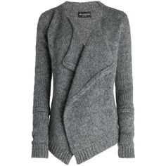 Zadig & Voltaire Jacket Daphnee Deluxe Sir ($450) ❤ liked on Polyvore featuring tops, cardigans, jackets, sweaters, outerwear, grey, gray top, grey top, grey cardigan and gray cardigan