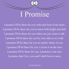 I Promise is a romantic wedding poem written by Ms Moem, suitable for all during your wedding ceremony. wedding quotes I Promise - Romantic Wedding Poem Forever Love Quotes, Soulmate Love Quotes, Romantic Poems, Romantic Love Quotes, Love You Quotes For Him, Love Yourself Quotes, Vows For Him, Letters To Your Boyfriend, Promise Quotes