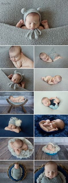 Adorable 8 day old kieran and his grey and navy themed studio newborn photo shoot full