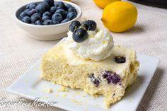 CrockPot Blueberry Lemon Custard Cake (6 eggs, 2c cream, 1/2c blueberries and other on-hand ingredients.)