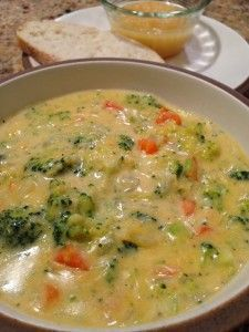 Broccoli Cheese Soup | The Cookin Chicks