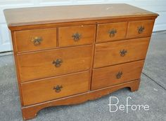 How to paint WOOD furniture. She goes in to a ton of detail. A must read before repainting.