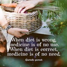 """Health quote: """"When diet is wrong, medicine is of no use. When diet is correct, medicine is of no need."""" The first step to health is through good nutrition."""
