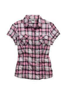 Cute pink and black casual shirt, from Harley-Davidson's Pink Label Line