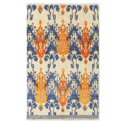 Hand-Knotted Ikat Style Rug - June, Antique Rugs