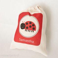 Ladybug Favor Bags by nickwilljack on Etsy, $15.00