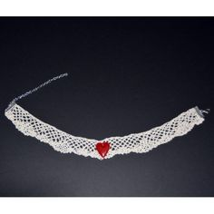Crochet Necklace, Jewelry, Lace Jewelry, Red Hearts, Bobbin Lace, Hand Made, Necklaces, Jewlery, Jewerly