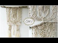 Makramee Wandbehang Teil 2 * DIY * Macrame Wall hanging [eng sub] - YouTube