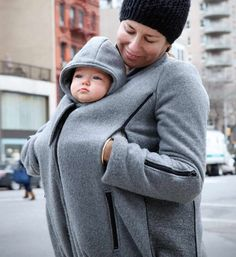 This soft coat can be worn three ways: as a regular coat; or as a maternity coat; or as a coat to wear over your child in a separate baby carrier.  It can be worn in the fall, spring, warmer winter days or even the coldest winter days with layering. Coat features include: · Two-way center vertical zipper· Invisible zippers on the jacket sides for adjustable room· Tandem two-way zippers; each above the front pockets· Four pockets· Adjustable drawstring at the bo... $185