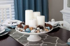 """Advent is a time to embrace the true meaning of Christmas. Here I explain why we celebrate it and give some easy Advent """"wreath"""" ideas. Christmas Wood, Christmas Wreaths, Advent Wreaths, Christmas Tables, Reindeer Christmas, Nordic Christmas, Modern Christmas, Xmas, Advent Candles"""
