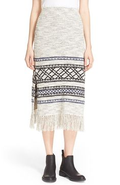 Free People Fringe Sweater Skirt available at #Nordstrom