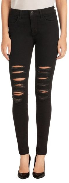 Please click on the picture to go to the detail page.  23110 Maria High-Rise Skinny in Black Heart