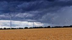 Schwarze Wand über Brandenburg - Meteorologen warnen vor neuer Unwettergefahr. (Quelle: dpa)