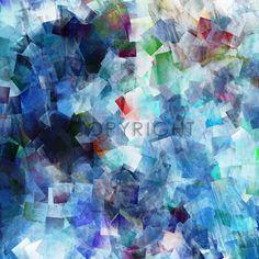 Bild auf Leinwand kaufen FineArtPrint Dymphonie in blau von Christine Bässler