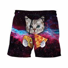 a3af7bf754 PIZZA BURRITO CAT SHORTS Pizza Burrito, Taco Pizza, Surf Shorts, Men's  Shorts,