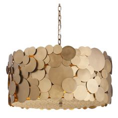 matt gold disc chandelier