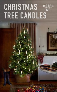 Candles make everything more beautiful. Light up your Christmas tree with these DIY Christmas Tree candles. Easy, fun and affordable.