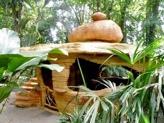 Arquitectura organica integrada en la selva
