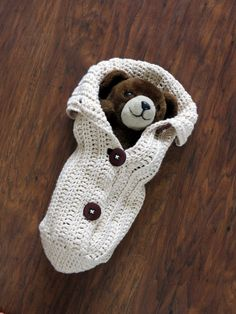 Crochet Cocoon Pattern  Chunky Button Cocoon Pattern  ♥ Can be buttoned to the side or at the center  ♥ Adorable little newborn photo prop.   ♥ This easy to follow pattern works up very quickly using worsted weight yarn.   ♥ The Cocoon Pattern is one size designed for a newborn.  ♥ The pattern is written in American Standard Terms using basic crochet stitches ♥ Pattern by The Knitting Closet
